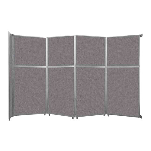 "Operable Wall Folding Room Divider 15'7"" x 10'3/4"" Slate Fabric"