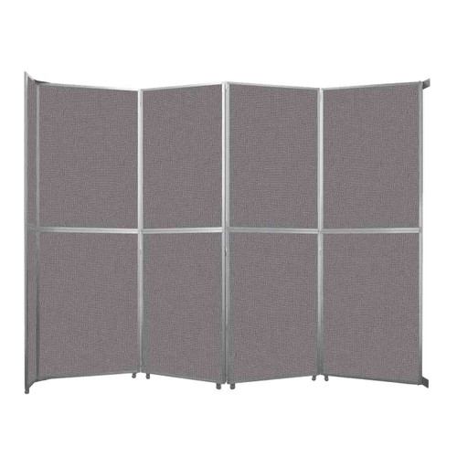 "Operable Wall Folding Room Divider 15'7"" x 12'3"" Slate Fabric"
