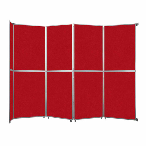 "Operable Wall Folding Room Divider 15'7"" x 12'3"" Red Fabric"