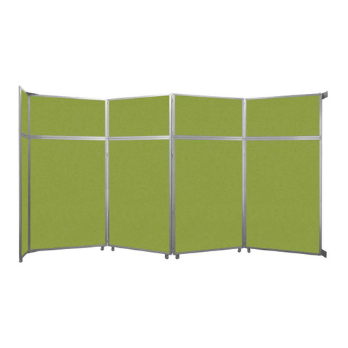 """Operable Wall Folding Room Divider 15'7"""" x 8'5-1/4"""" Lime Green Fabric"""