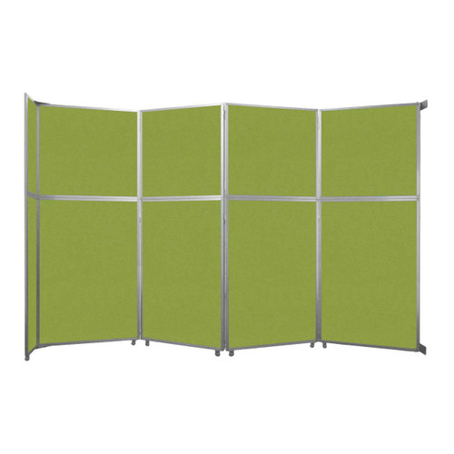 """Operable Wall Folding Room Divider 15'7"""" x 10'3/4"""" Lime Green Fabric"""