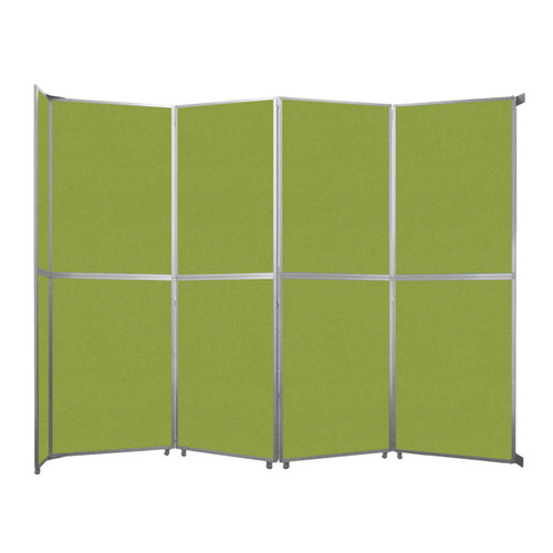 """Operable Wall Folding Room Divider 15'7"""" x 12'3"""" Lime Green Fabric"""