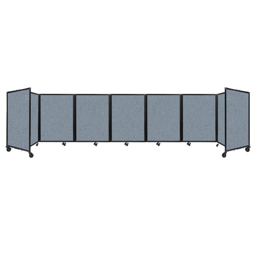 """Room Divider 360 Folding Portable Partition 19'6"""" x 4' Powder Blue Fabric"""