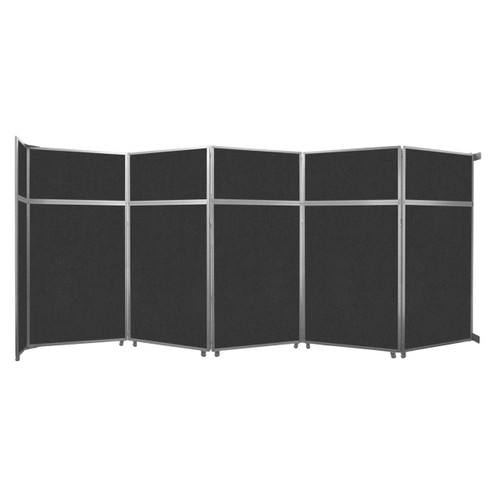"""Operable Wall Folding Room Divider 19'6"""" x 8'5-1/4"""" Black Fabric"""