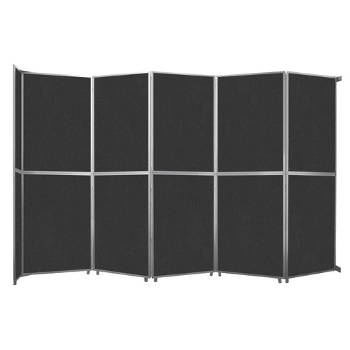 "Operable Wall Folding Room Divider 19'6"" x 12'3"" Black Fabric"