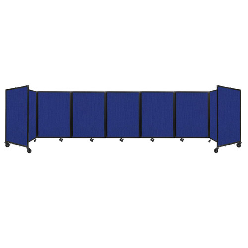 """Room Divider 360 Folding Portable Partition 19'6"""" x 4' Royal Blue Fabric"""