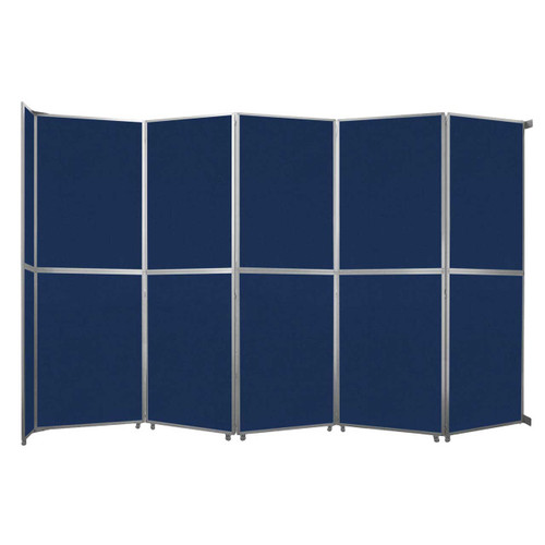 """Operable Wall Folding Room Divider 19'6"""" x 12'3"""" Navy Blue Fabric"""