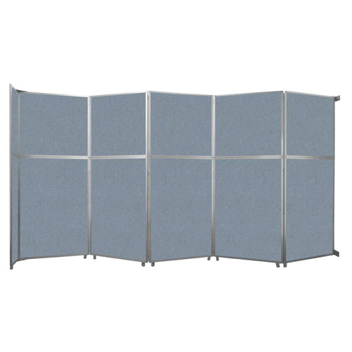 """Operable Wall Folding Room Divider 19'6"""" x 10'3/4"""" Powder Blue Fabric"""
