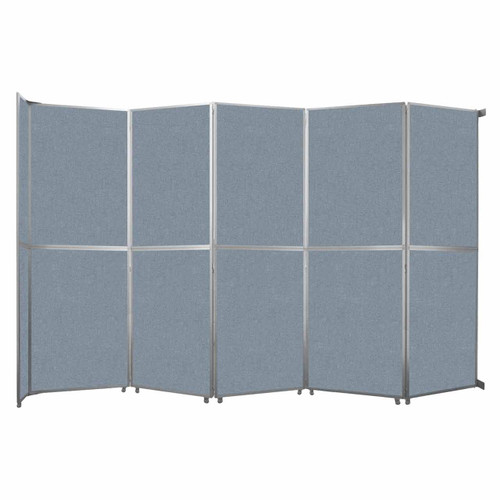 """Operable Wall Folding Room Divider 19'6"""" x 12'3"""" Powder Blue Fabric"""