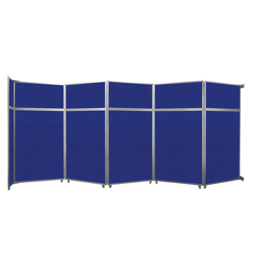 "Operable Wall Folding Room Divider 19'6"" x 8'5-1/4"" Royal Blue Fabric"