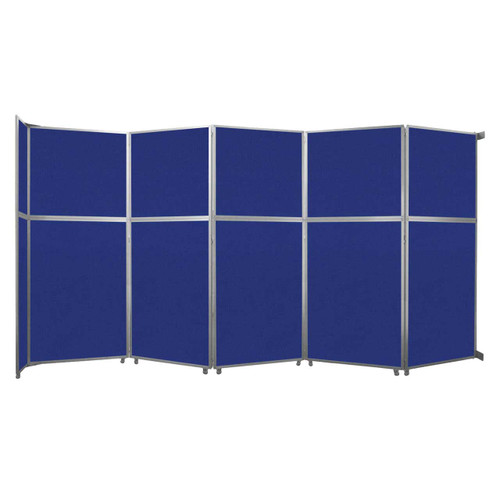 """Operable Wall Folding Room Divider 19'6"""" x 10'3/4"""" Royal Blue Fabric"""