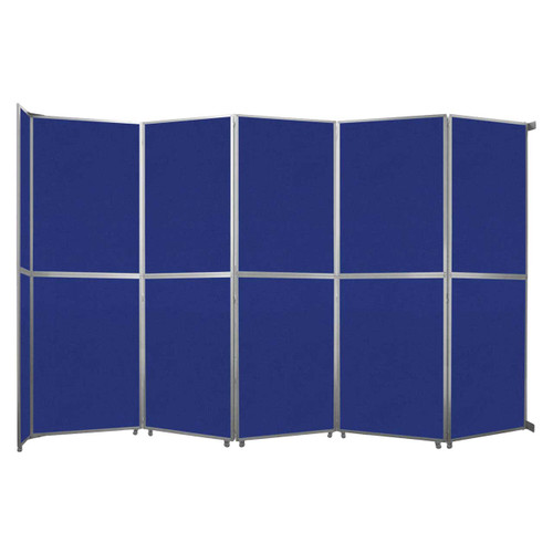 """Operable Wall Folding Room Divider 19'6"""" x 12'3"""" Royal Blue Fabric"""