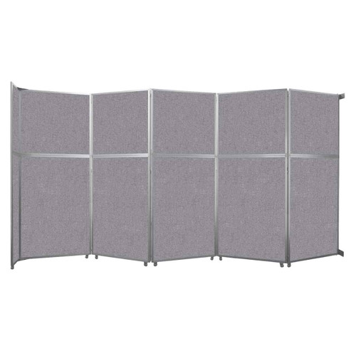 """Operable Wall Folding Room Divider 19'6"""" x 10'3/4"""" Cloud Gray Fabric"""