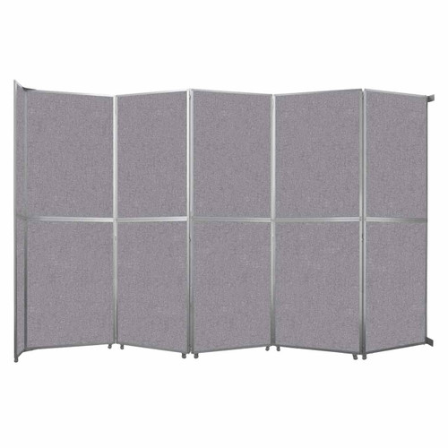 """Operable Wall Folding Room Divider 19'6"""" x 12'3"""" Cloud Gray Fabric"""