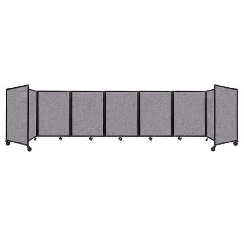 """Room Divider 360 Folding Portable Partition 19'6"""" x 4' Cloud Gray Fabric"""