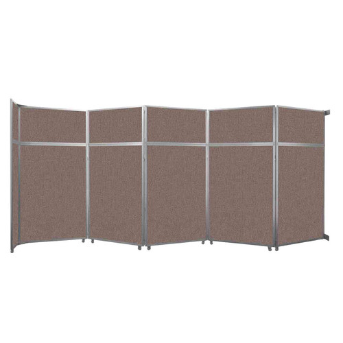 """Operable Wall Folding Room Divider 19'6"""" x 8'5-1/4"""" Latte Fabric"""