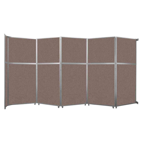 """Operable Wall Folding Room Divider 19'6"""" x 10'3/4"""" Latte Fabric"""