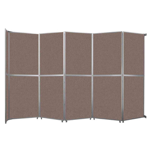 "Operable Wall Folding Room Divider 19'6"" x 12'3"" Latte Fabric"
