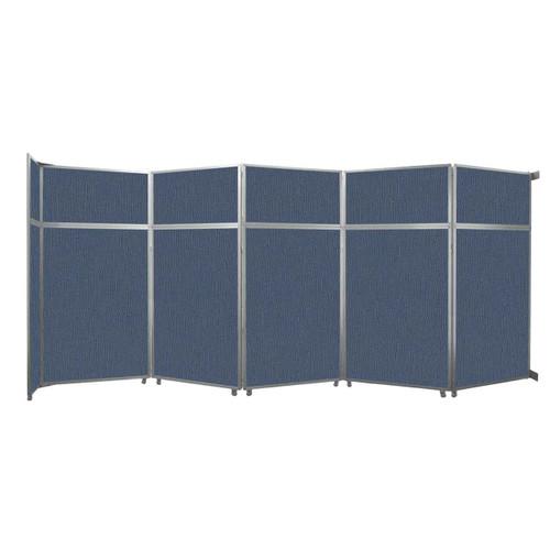 "Operable Wall Folding Room Divider 19'6"" x 8'5-1/4"" Ocean Fabric"