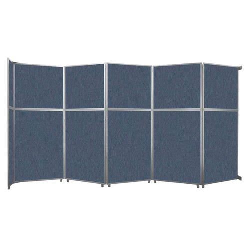 "Operable Wall Folding Room Divider 19'6"" x 10'3/4"" Ocean Fabric"