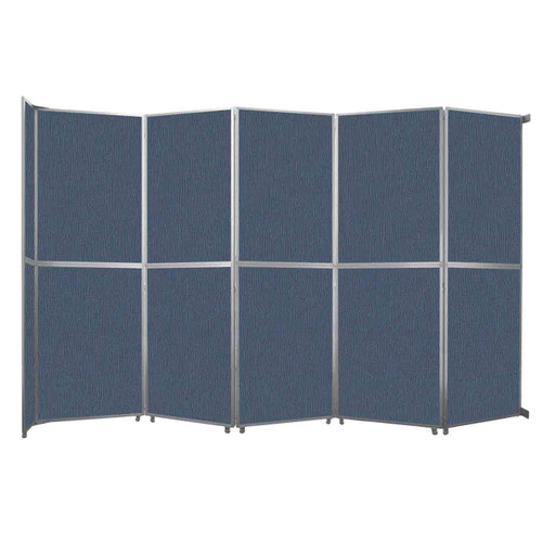 "Operable Wall Folding Room Divider 19'6"" x 12'3"" Ocean Fabric"