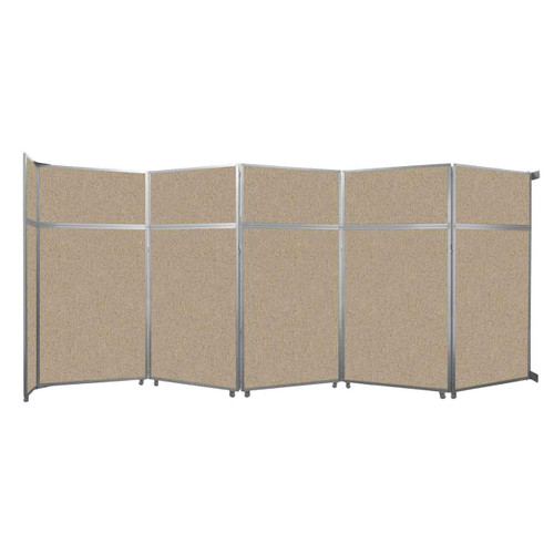 "Operable Wall Folding Room Divider 19'6"" x 8'5-1/4"" Rye Fabric"