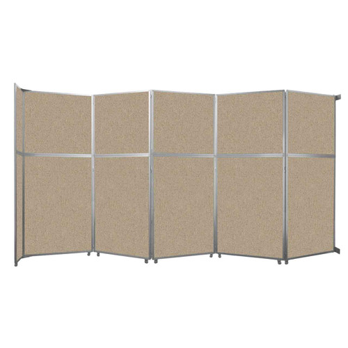 """Operable Wall Folding Room Divider 19'6"""" x 10'3/4"""" Rye Fabric"""