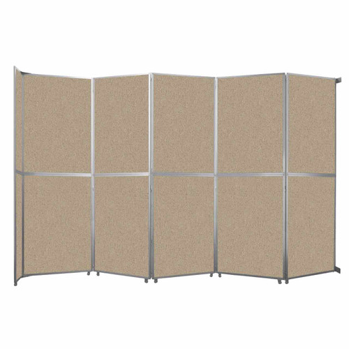 "Operable Wall Folding Room Divider 19'6"" x 12'3"" Rye Fabric"