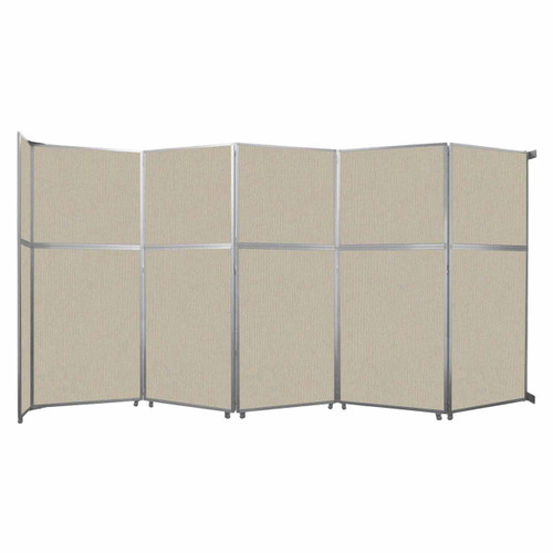 "Operable Wall Folding Room Divider 19'6"" x 10'3/4"" Sand Fabric"