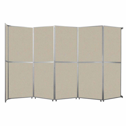 "Operable Wall Folding Room Divider 19'6"" x 12'3"" Sand Fabric"