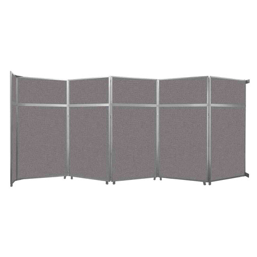 """Operable Wall Folding Room Divider 19'6"""" x 8'5-1/4"""" Slate Fabric"""