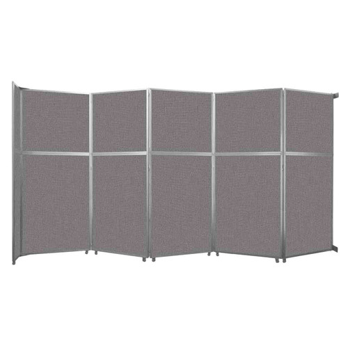 """Operable Wall Folding Room Divider 19'6"""" x 10'3/4"""" Slate Fabric"""