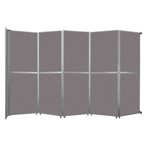 """Operable Wall Folding Room Divider 19'6"""" x 12'3"""" Slate Fabric"""