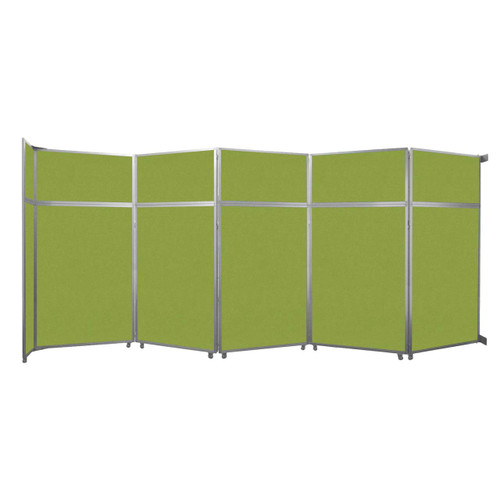 """Operable Wall Folding Room Divider 19'6"""" x 8'5-1/4"""" Lime Green Fabric"""