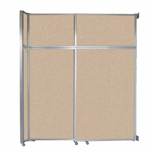 "Operable Wall Sliding Room Divider 6'10"" x 8'5-1/4"" Beige Fabric"
