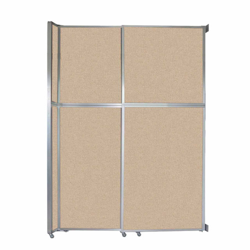 "Operable Wall Sliding Room Divider 6'10"" x 10'3/4"" Beige Fabric"