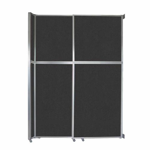 "Operable Wall Sliding Room Divider 6'10"" x 10'3/4"" Black Fabric"