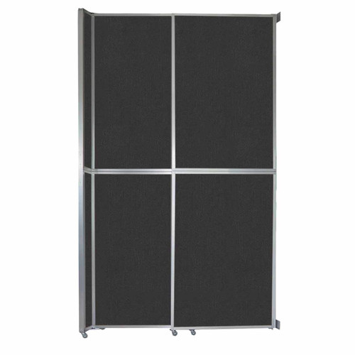 "Operable Wall Sliding Room Divider 6'10"" x 12'3"" Black Fabric"