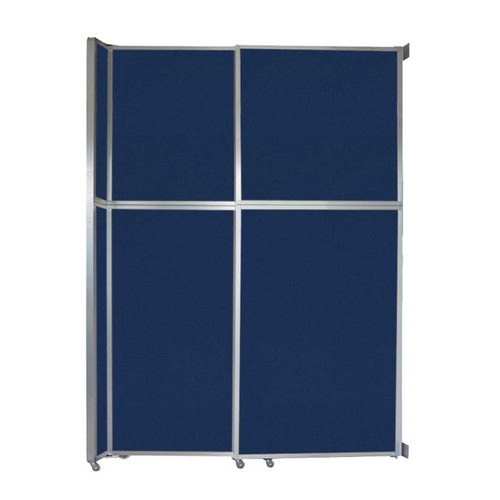"""Operable Wall Sliding Room Divider 6'10"""" x 10'3/4"""" Navy Blue Fabric"""