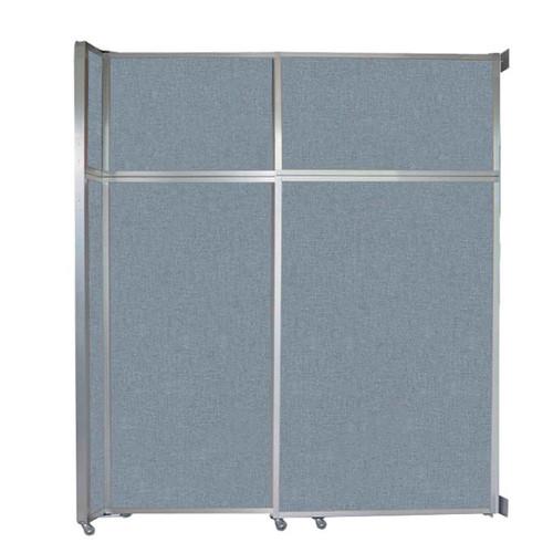 "Operable Wall Sliding Room Divider 6'10"" x 8'5-1/4"" Powder Blue Fabric"