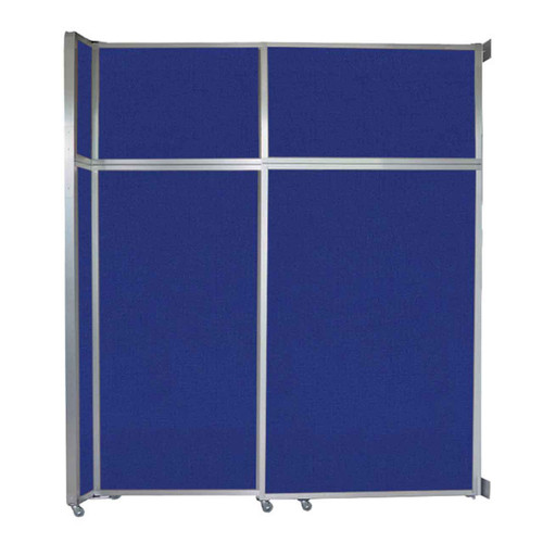 "Operable Wall Sliding Room Divider 6'10"" x 8'5-1/4"" Royal Blue Fabric"