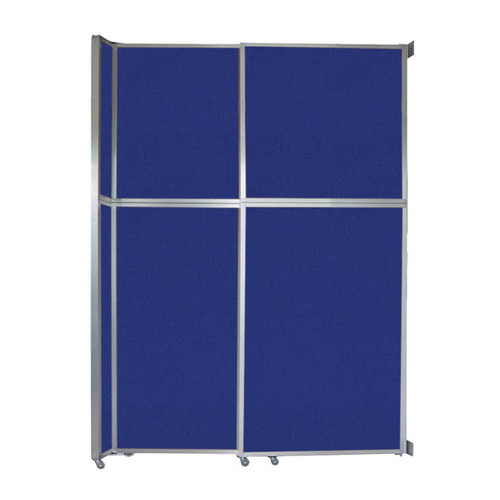 "Operable Wall Sliding Room Divider 6'10"" x 10'3/4"" Royal Blue Fabric"