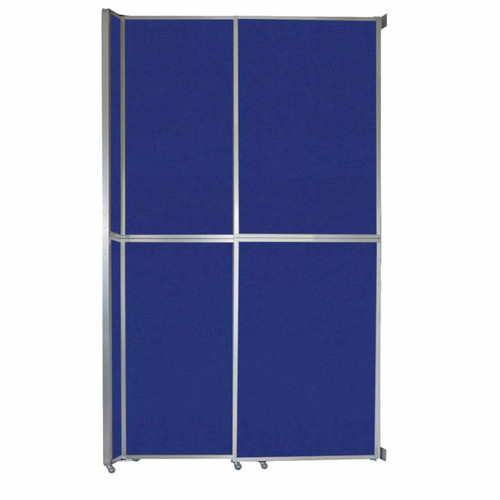 """Operable Wall Sliding Room Divider 6'10"""" x 12'3"""" Royal Blue Fabric"""