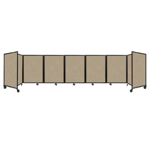"""Room Divider 360 Folding Portable Partition 19'6"""" x 4' Rye Fabric"""