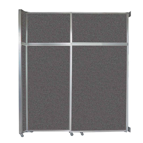 """Operable Wall Sliding Room Divider 6'10"""" x 8'5-1/4"""" Charcoal Gray Fabric"""