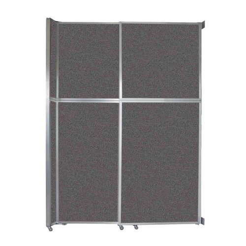"Operable Wall Sliding Room Divider 6'10"" x 10'3/4"" Charcoal Gray Fabric"