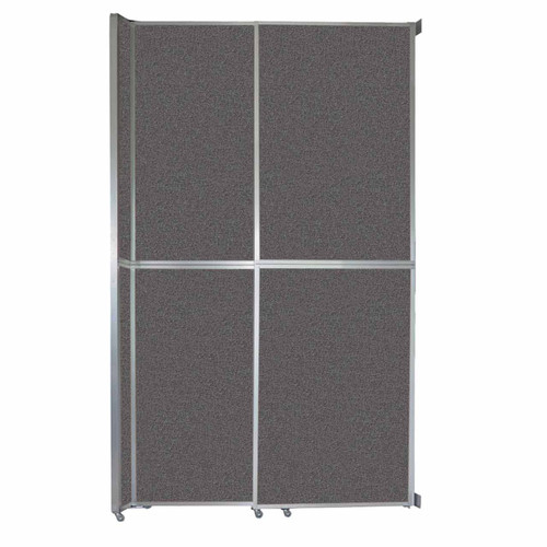 """Operable Wall Sliding Room Divider 6'10"""" x 12'3"""" Charcoal Gray Fabric"""