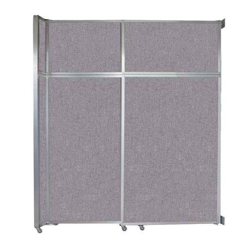 """Operable Wall Sliding Room Divider 6'10"""" x 8'5-1/4"""" Cloud Gray Fabric"""