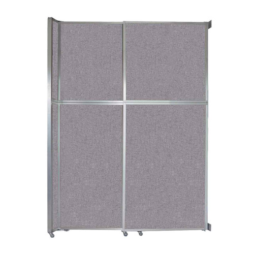 """Operable Wall Sliding Room Divider 6'10"""" x 10'3/4"""" Cloud Gray Fabric"""