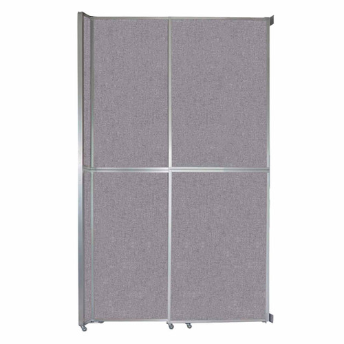 """Operable Wall Sliding Room Divider 6'10"""" x 12'3"""" Cloud Gray Fabric"""